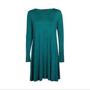 fd9dd6bfb9a Boohoo Dresses - NWOT Boohoo Scoop Neck Long Sleeve Swing Dress